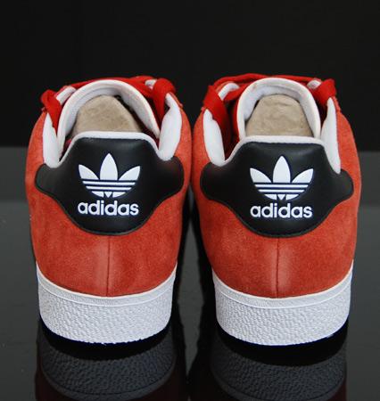 Adidas Skateboarding Gazelle Skate - Red , Icy Blue & Black / Gold