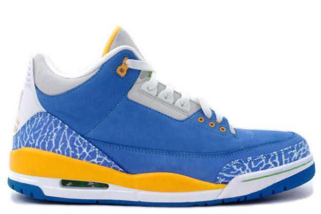 Air Jordan 3 (III) Retro - Do The Right Thing (DTRT) - Brisk Blue/Pro Gold-Radiant Green