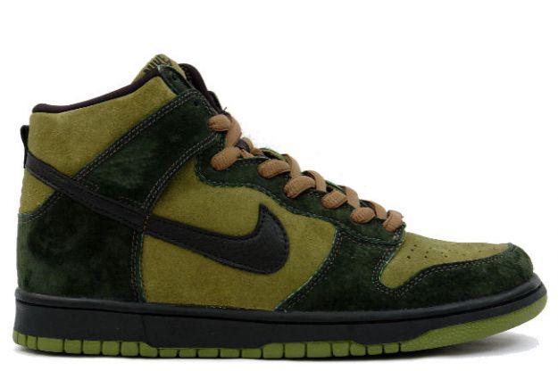 Nike Dunk High Pro SB - Hulk (camper green / black / deep forest)