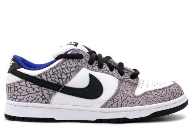 Nike Dunk Low Pro SB - Supreme White (white / black / cement gray)