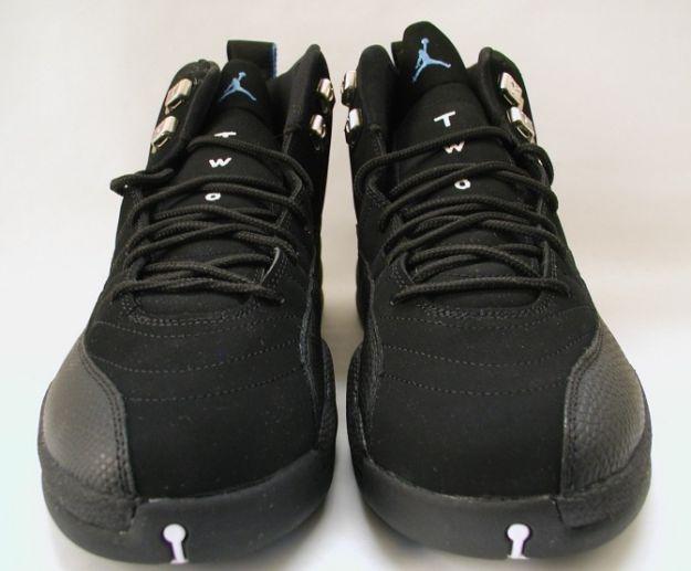 Air Jordan 12 (XII) Retro - Nubucks / UNC (Black / University Blue)