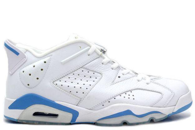 Air Jordan 6 (VI) Retro Low - White / University Blue