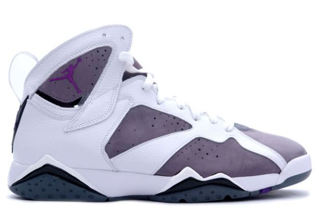 purple and white jordans