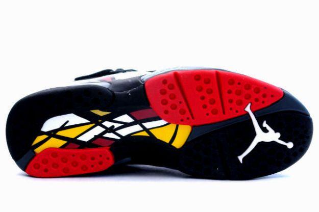 Air Jordan 8 (VIII) Retro Low - Black / True Red - Del Sol