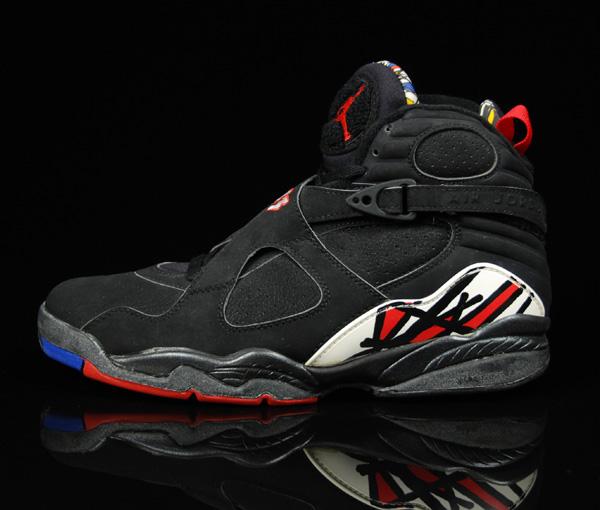 Air Jordan 8 (VIII) Original (OG) - Playoffs (Black / Black - True Red)