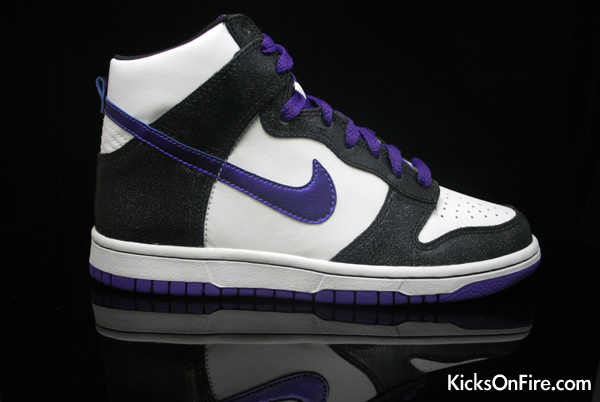 Nike Dunk High GS – Black / White – Purple