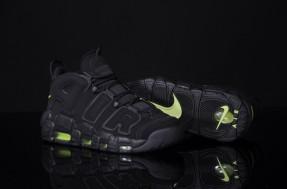 Nike Air More Uptempo - Black / Volt