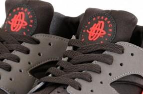 Nike Air Huarache - Sport Grey / Total Crimson - Midnight Fog (6)