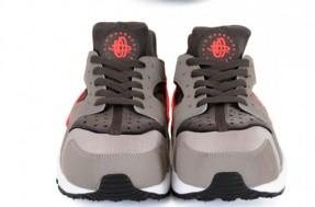 Nike Air Huarache - Sport Grey / Total Crimson - Midnight Fog (3)