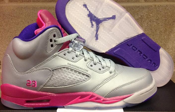 Air Jordan 5 GS - Cement Grey / Pink