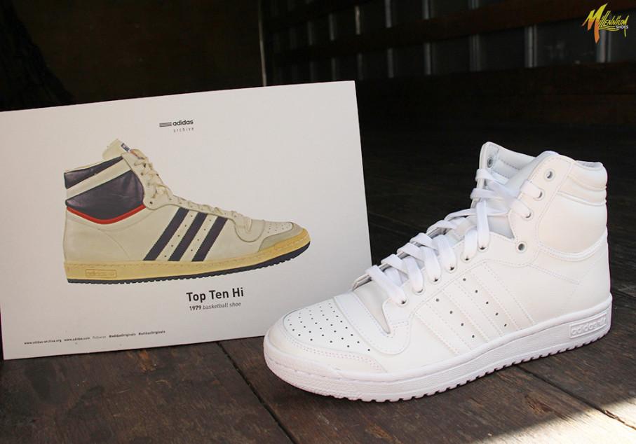 adidas Top Ten Hi - White • KicksOnFire.com
