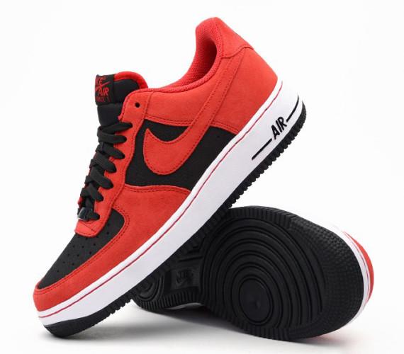 Nike Air Force 1 Low – Black University Red •