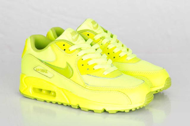 half price where to buy on sale Nike Air Max 90 GS - Volt / Fierce Green • KicksOnFire.com