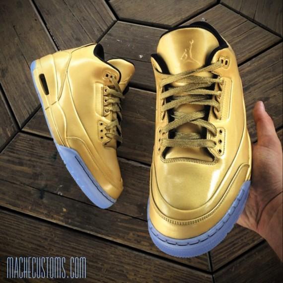 All Gold Everything Air Jordan 3 by