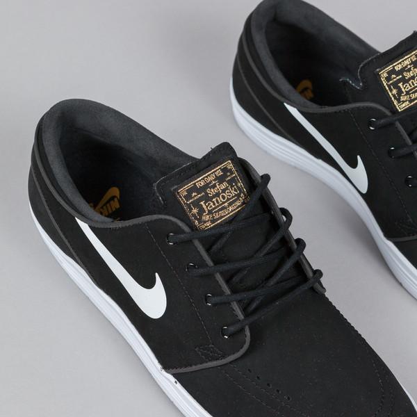 new style 27bd9 4a94f Nike SB Lunar Stefan Janoski - Black   White - Gold (8)