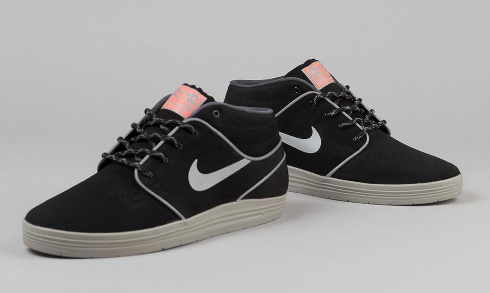 online retailer eb780 8c0d9 Nike SB Lunar Stefan Janoski Mid Shield (Black   Reflective) ...