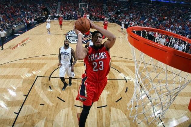 online retailer 6fee1 2fc76 NBA Kicks  Anthony Davis dominates on Opening Night in a Nike Air Max  Hyperposite PE