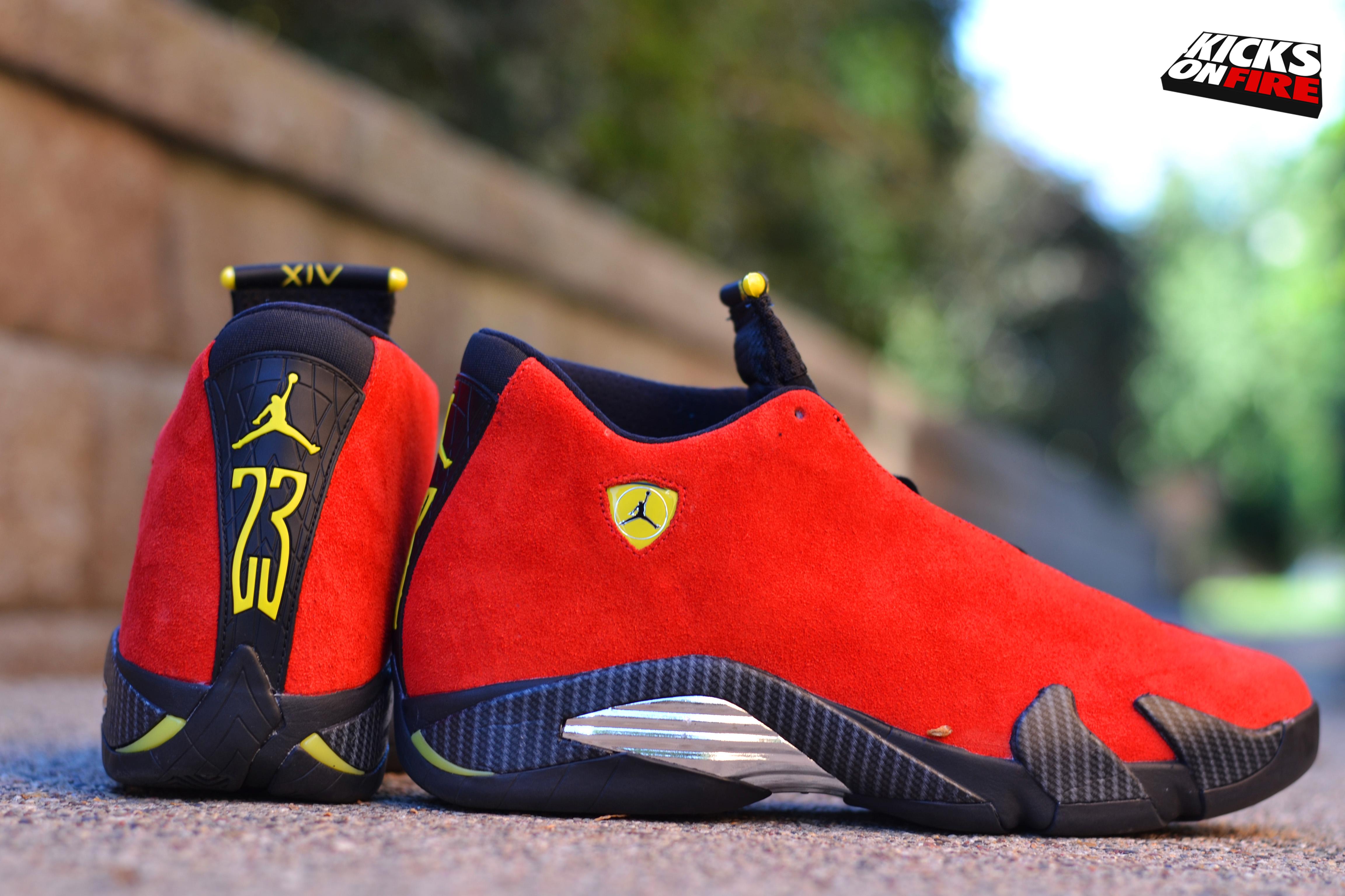 Air Jordan 14 Ferrari • KicksOnFire.com