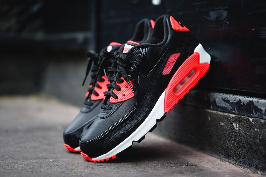 """Nike Air Max 90 """"Infrared Croc"""" • KicksOnFire.com"""