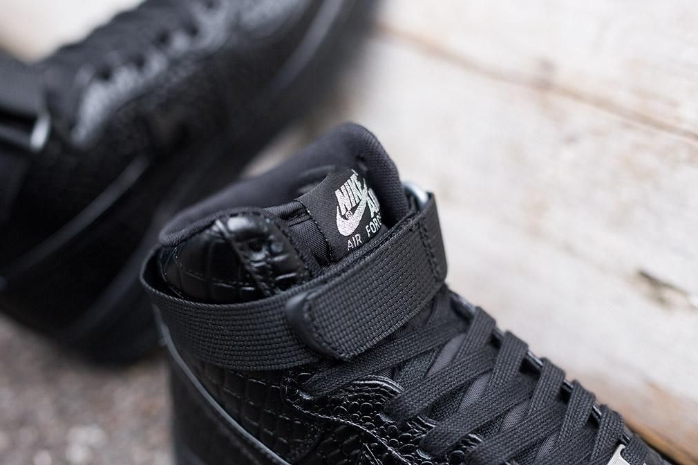 Nike Wmns Air Force 1 High Black Croc Additional Photos