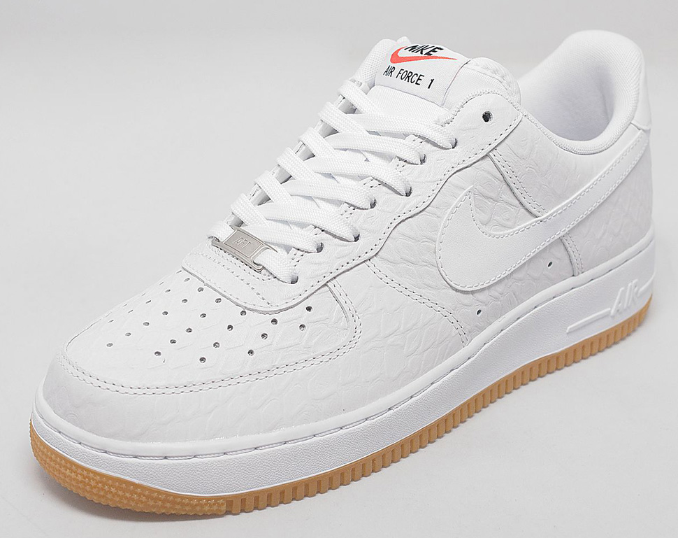 """new concept 24d8d 076a6 Nike Air Force 1 Low """"White Croc   Gum"""" - This One Is For You Fellas! •  KicksOnFire.com"""
