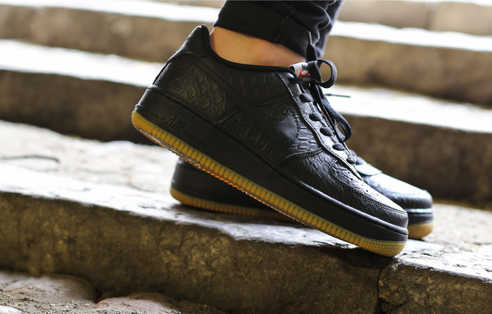 Black Croc and Gum Bottoms Dominate This Nike Air Force 1