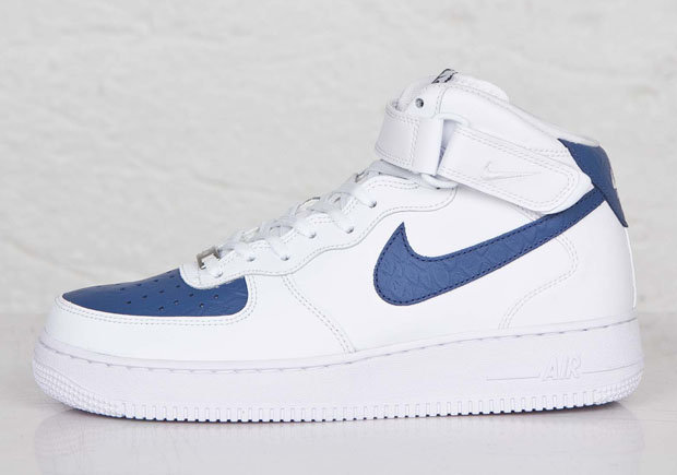 Nike Air Force 1 Mid White Blue Lagoon Kicksonfire Com
