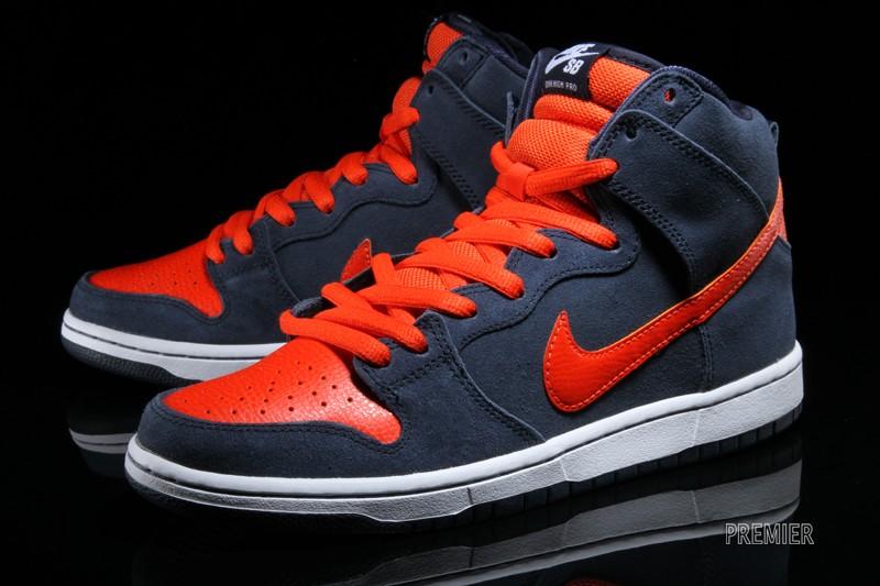 "new style c10a7 641de Nike SB Dunk High ""Obsidian/White-Team Orange"" • KicksOnFire.com"