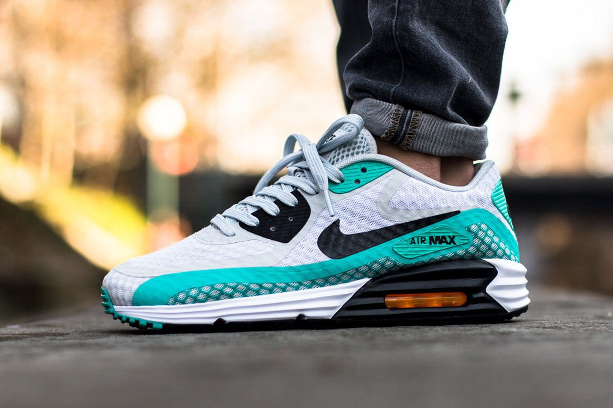 new product 139c0 f1499 Another Look At The Nike Air Max Lunar 90 Breeze – Pure Platinum   Light  Retro Green