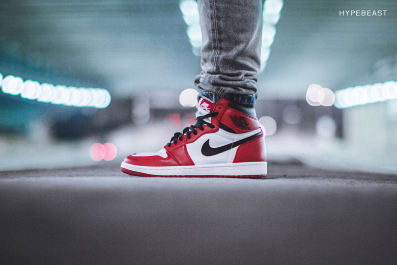"""really cheap new images of brand new Here's An On-Foot Look At The Air Jordan 1 High """"Chicago ..."""