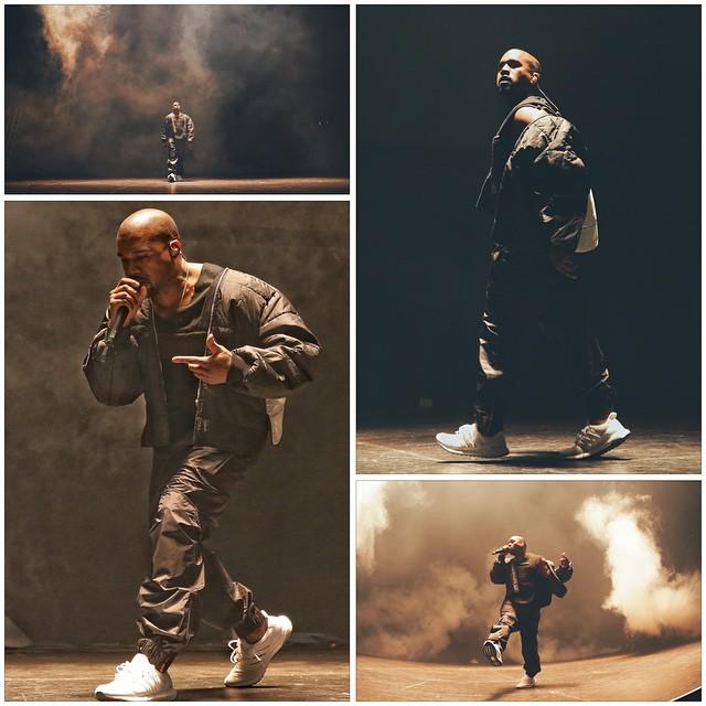 Kanye West Rocks White adidas Ultra Boost At Concert, Shoe