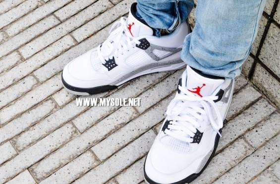 a1d52dac085 Nike Air Jordan 4 OG '89 Retro - White Cement • KicksOnFire.com