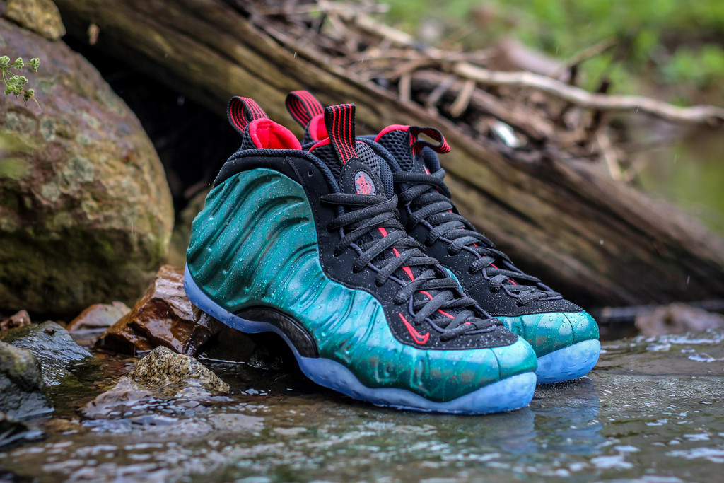 Air Foamposite One Abalone Green Aurora Black 575420009 ...