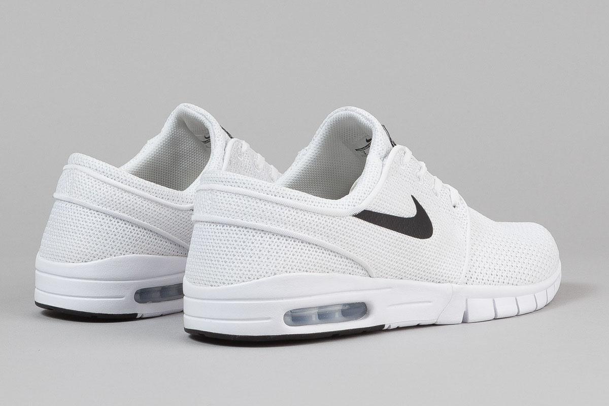 nowy koncept wybór premium buty na codzień A Classic Nike SB Stefan Janoski Max In White / Black ...