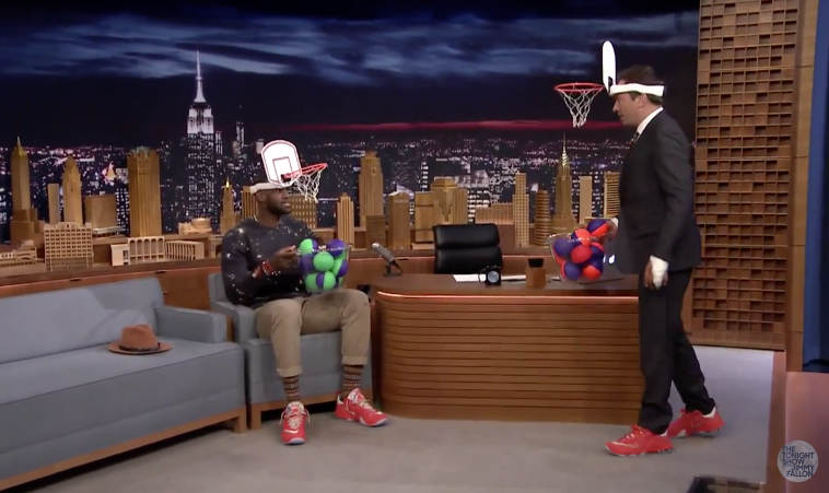 100% authentic a6e3f 38f7e LeBron James was a recent guest for the Tonight Show with Jimmy Fallon, as  the NBA superstar enjoyed a humorous activity of Faceketball, alongside  promoting ...