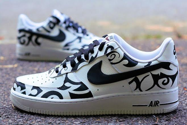 "Is This Custom Nike Air Force 1 Low ""Tribal Tattoo"" a Hit or"