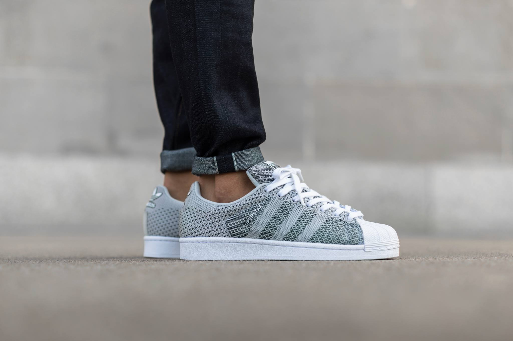 Another Woven adidas Originals Superstar in Clear Grey ...