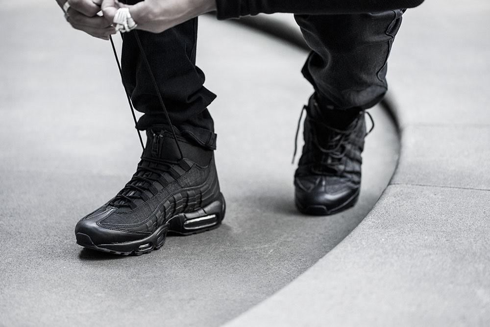 big sale 157c8 c2f3d An On-Feet Look At The Brand New Nike Air Max 95 Sneakerboot