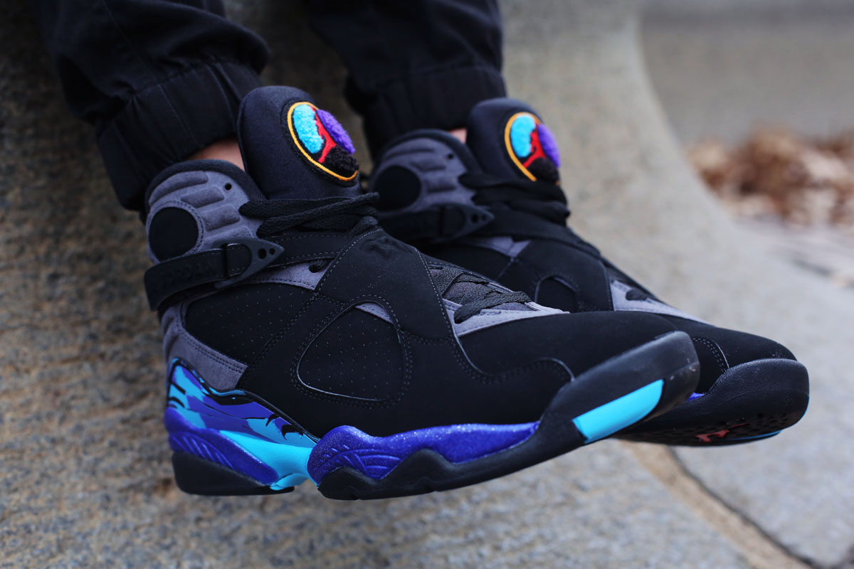 promo code aa169 0a66b An On-Feet Look At The Air Jordan 8 Aqua • KicksOnFire.com