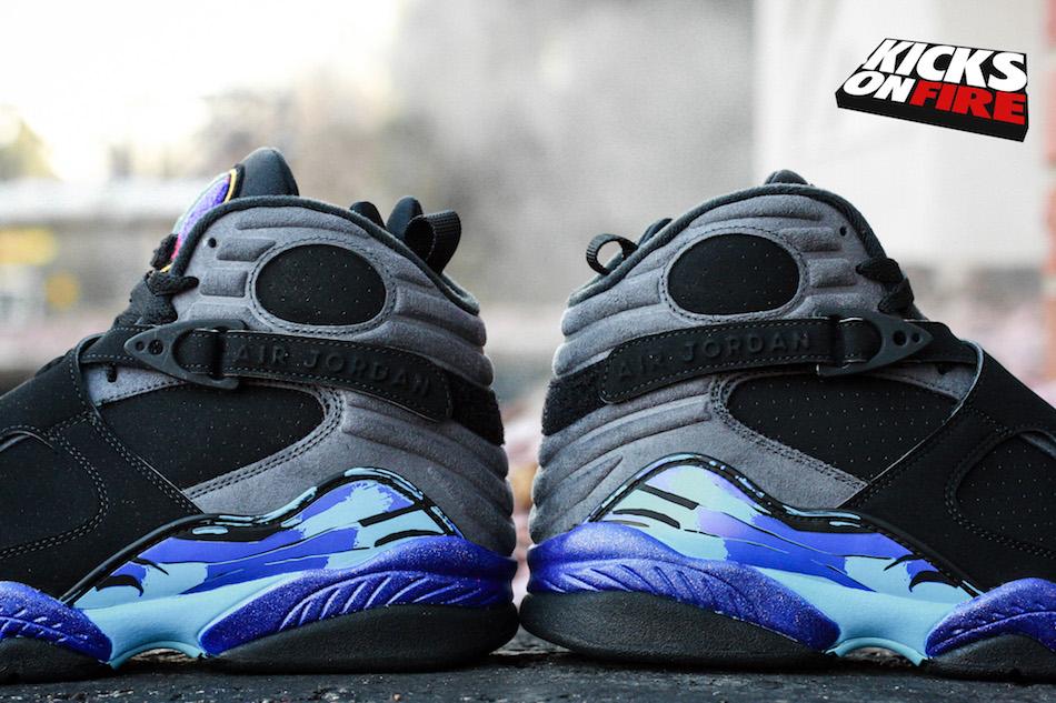 designer fashion 18f54 378ae Air Jordan 8 Aqua (Black Friday 2015) • KicksOnFire.com