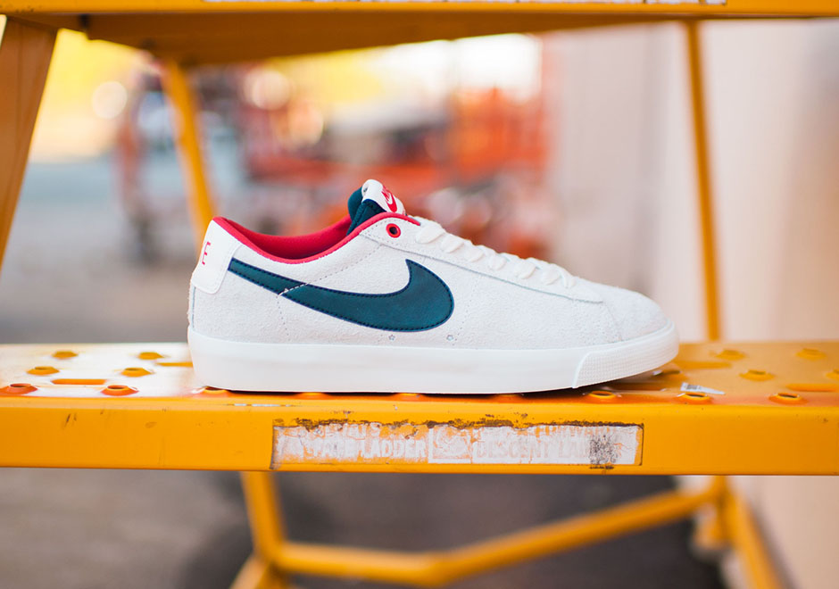 The Nike SB Blazer Low GT Rocks The Red, White & Blue Look