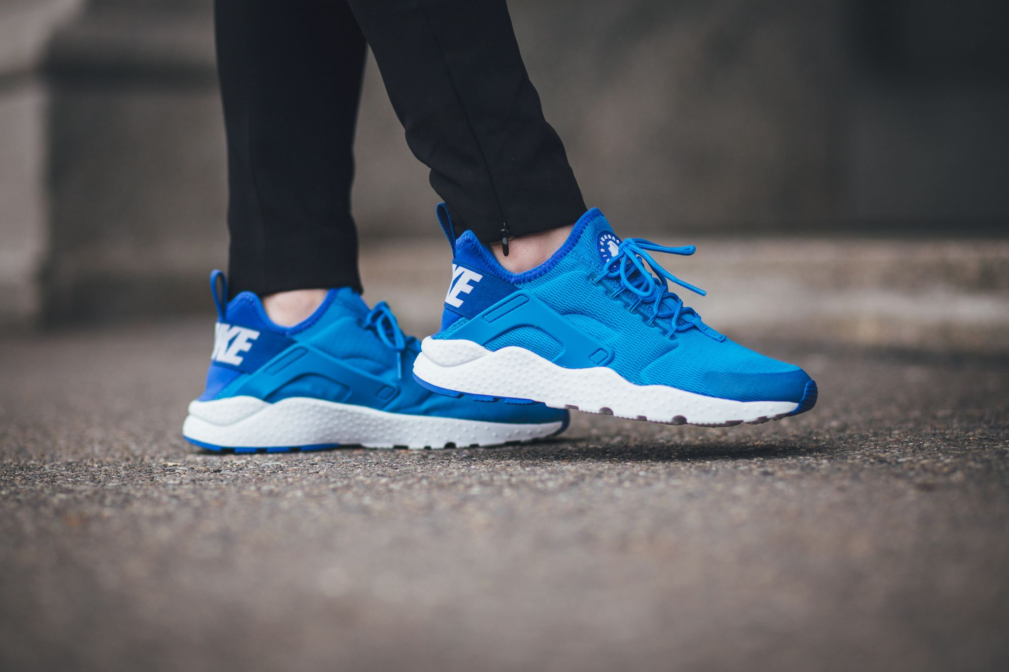 the best attitude 07a81 6662a Introduced earlier this month, the Nike Air Huarache Ultra which are  specifically crafted for females, is highlighted in this vibrant Photo Blue  finish.