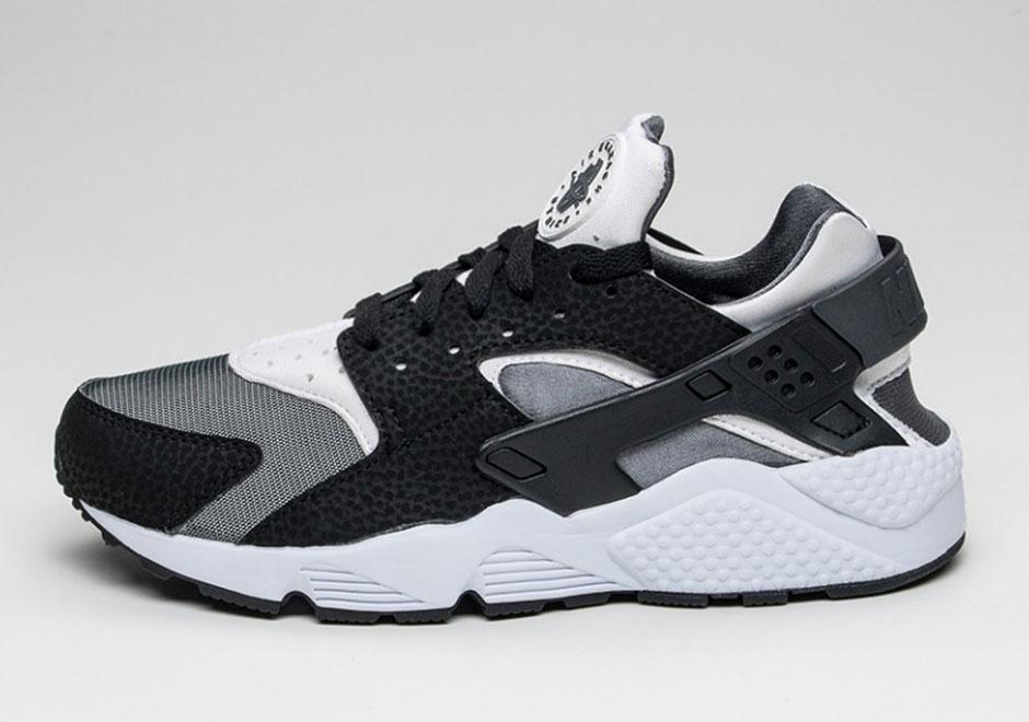 22be63ca5c2 A Nike Air Huarache Run Rocking Black, White And Grey • KicksOnFire.com