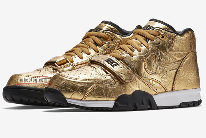 A Golden Nike Air Trainer 1 For Super