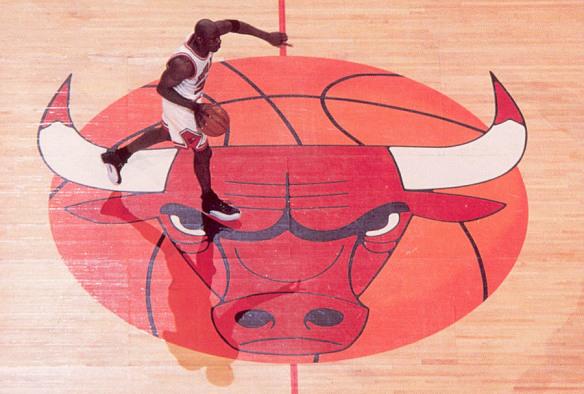 Michael Jordan in Air Jordan 12 Playoffs