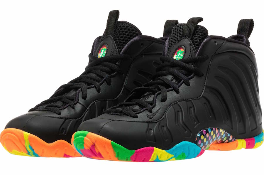 the latest 83876 f71df Release Date: Nike Little Posite One Black Fruity Pebbles ...