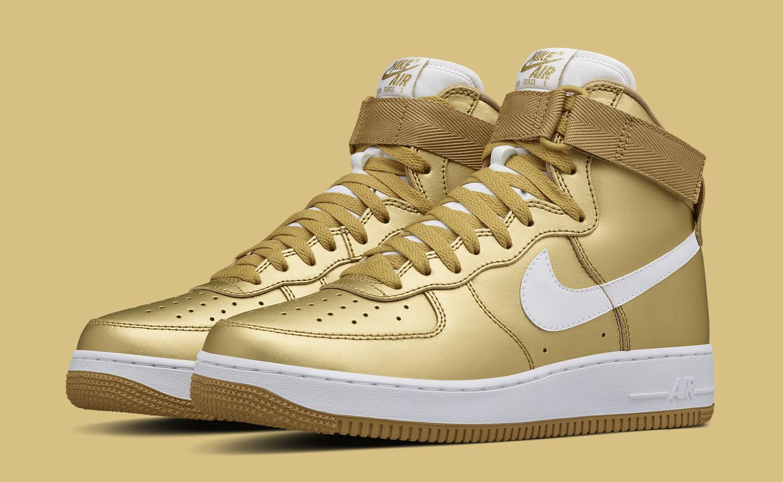 The Nike Air Force 1 High Metallic Gold