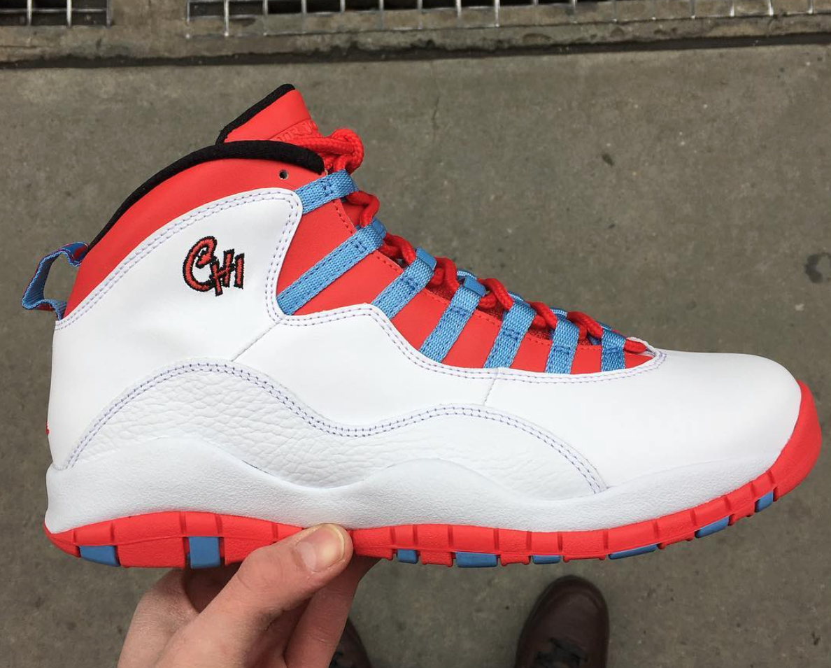 wholesale dealer ce3e5 5c94b Get Up Close With The Upcoming Air Jordan 10 Chicago Flag ...