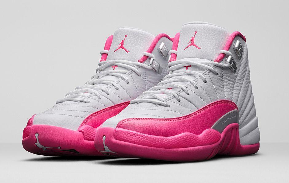Pink And White Air Jordan 12
