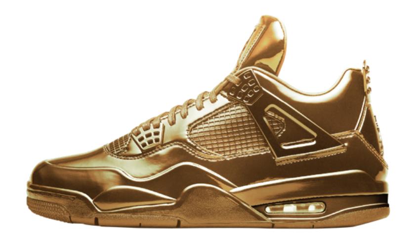 gold jordans